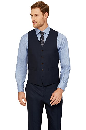 Ermenegildo Zegna Cloth Men's Regular Fit Ink Suit Vest 40R Blue