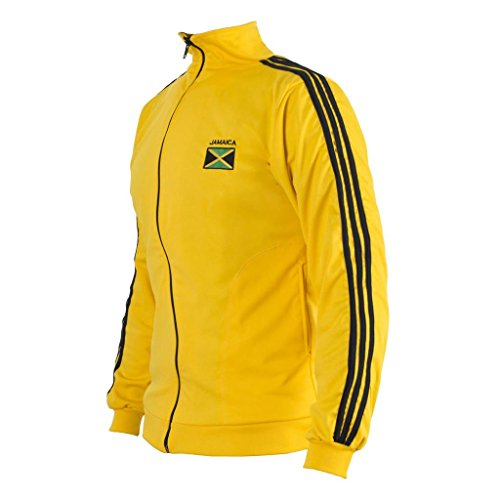 Jamaica Flag Yellow Capoeira Zip Up Jacket Track suit Jumper Men's Top Sweatshirt
