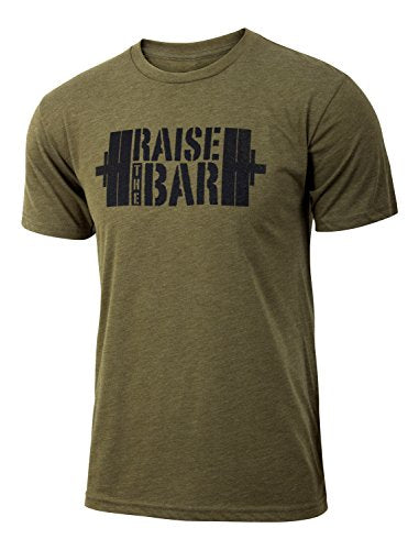 Raise the Bar - Military Green - Men's Barbell Triblend T-shirt