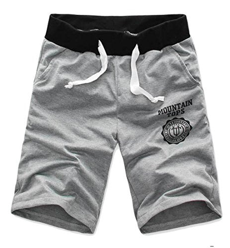 UUYUK Mens Casual Drawstring Jogging Running Sweatpant Shorts grey US L