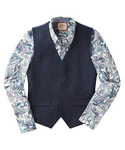 Joe Browns Men's smart Gentleman's waistcoat with contrast panels and back (42)