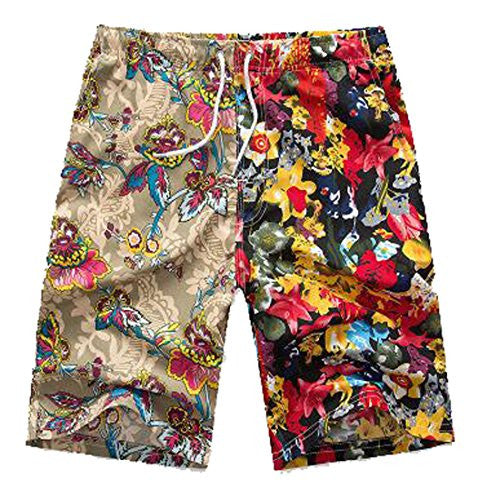 LD Mens Print Light Quick Dry Swim Trunks Loose Boardshorts 1 M
