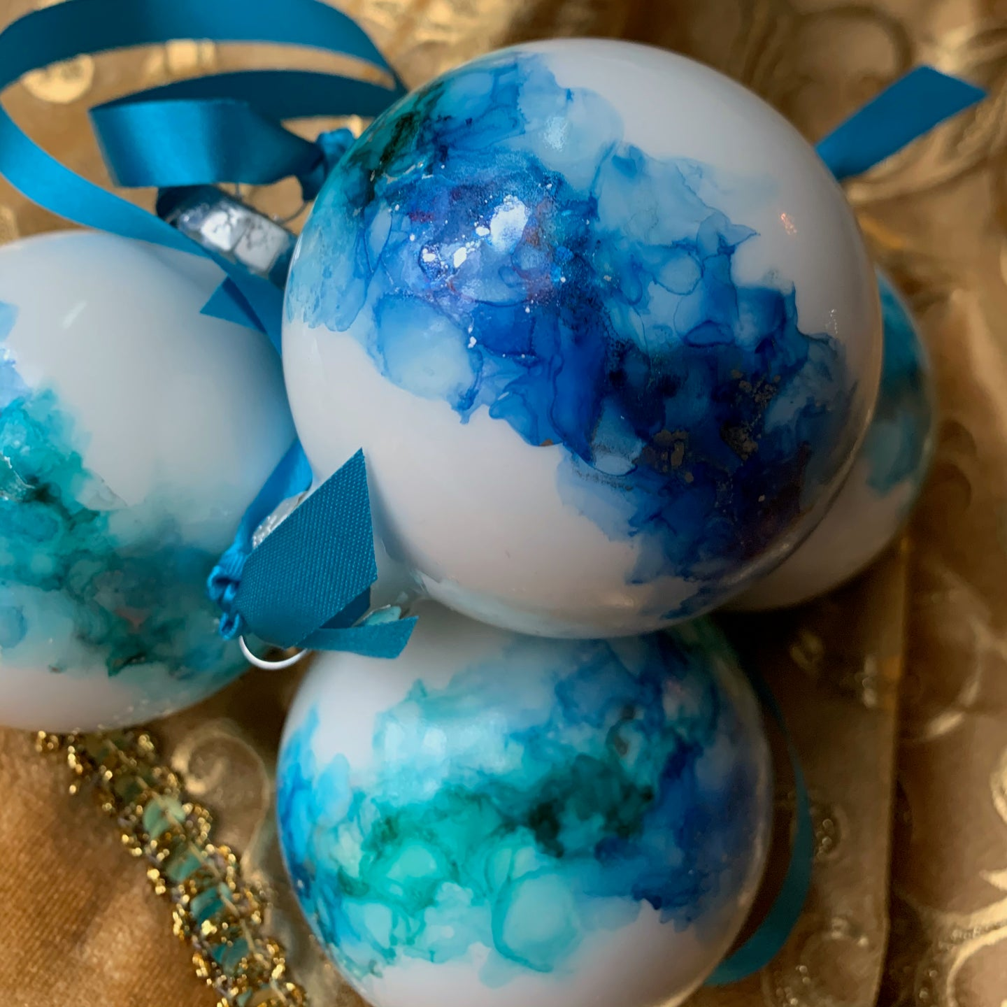 Blue + Silver Baubles