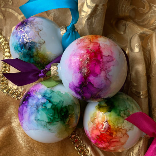 Rainbow + Gold Baubles