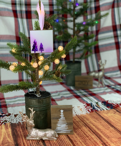 Lavender + Violet Tree Ornament