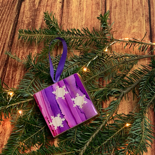 Purple Snowflake Ornament