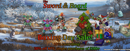 Sword and Board Boxing Day Sale