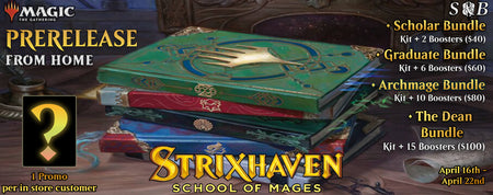 Strixhaven Prerelease from home