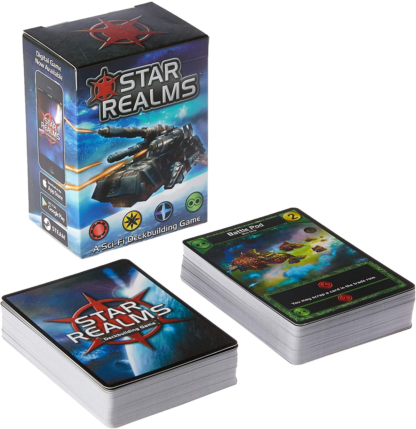 Box packaging and card example for Star Realms