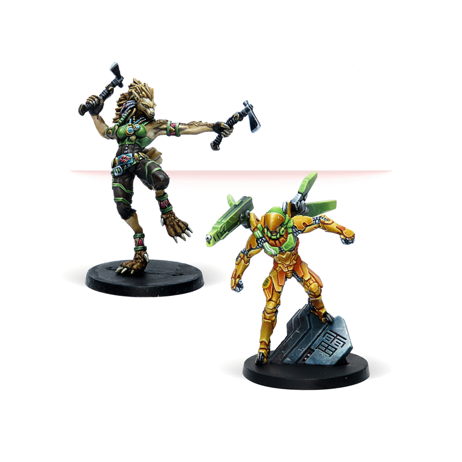 Miniatures in Aristeia Double Trouble