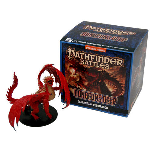 Pathfinder Battles: Dungeons Deep - Gargantuan Red Dragon Case Incentive