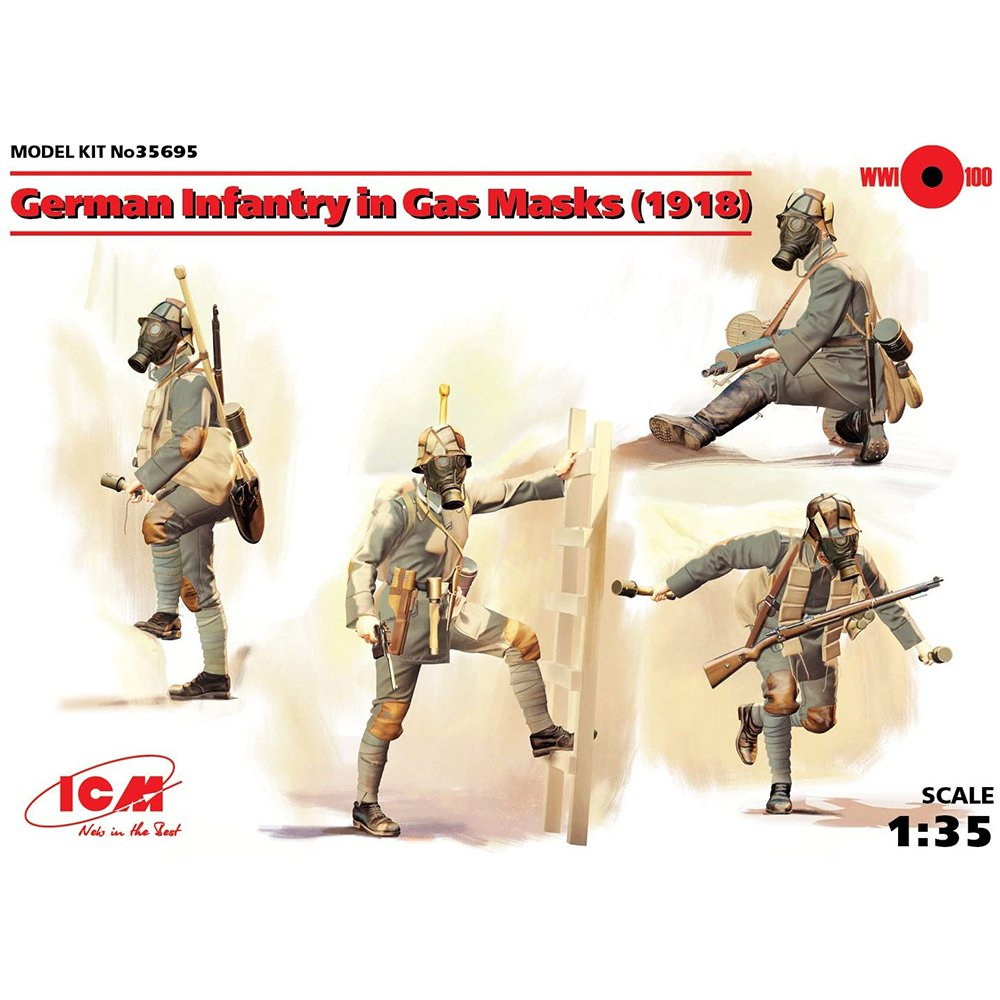ICM German Infantry in Gas Masks (1918) 1:35