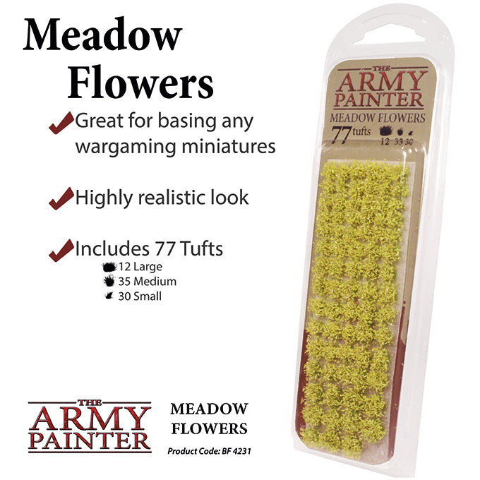 Infographic for Army Painter Meadow Flowers