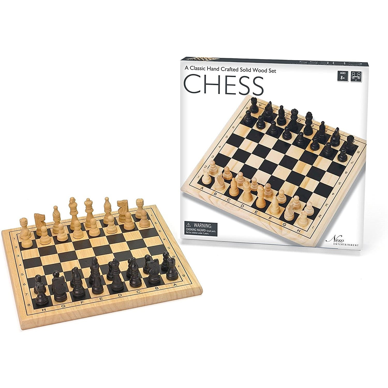 Package and set example for Wooden Chess set 11.5""