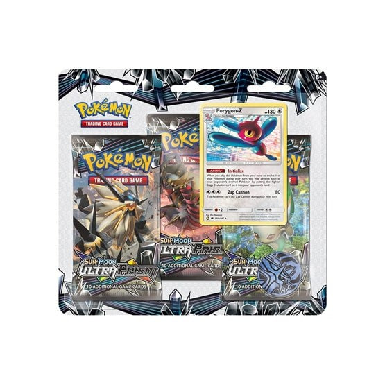 Pokemon Sun and Moon Ultra Prism Porygon-z 3-pack blister