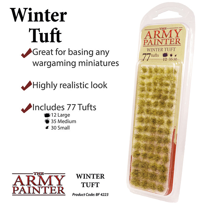 Infographic for Army Painter Winter Tufts
