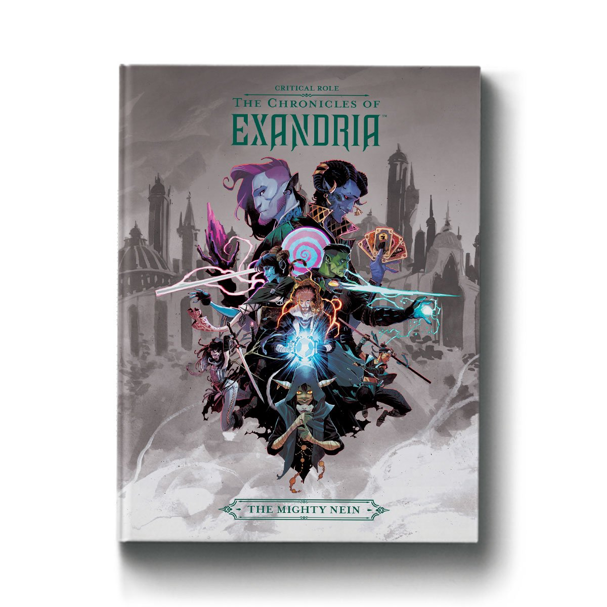 Cover art from Chronicles of Exandria: Mighty Nein