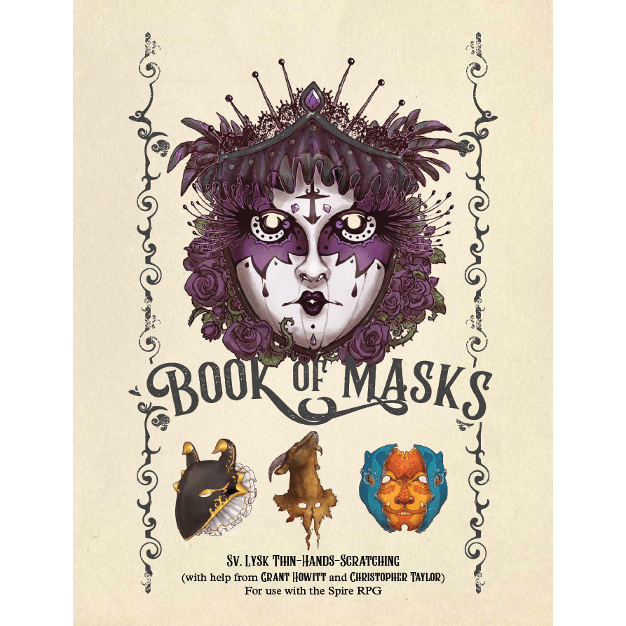Book of Masks: Spire RPG Source book
