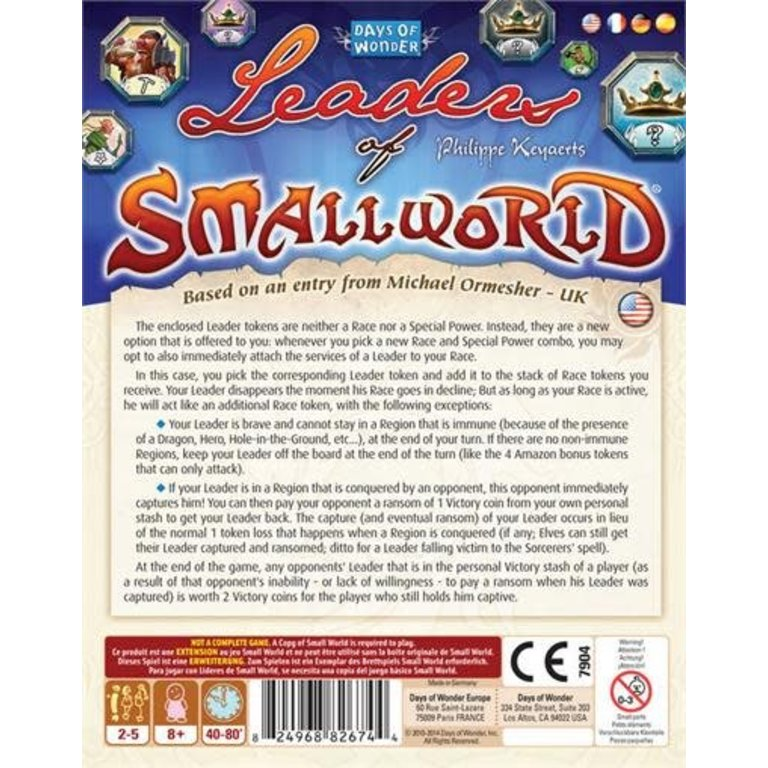 Smallworld: Leaders Of Smallworld Exp. - The Sword & Board