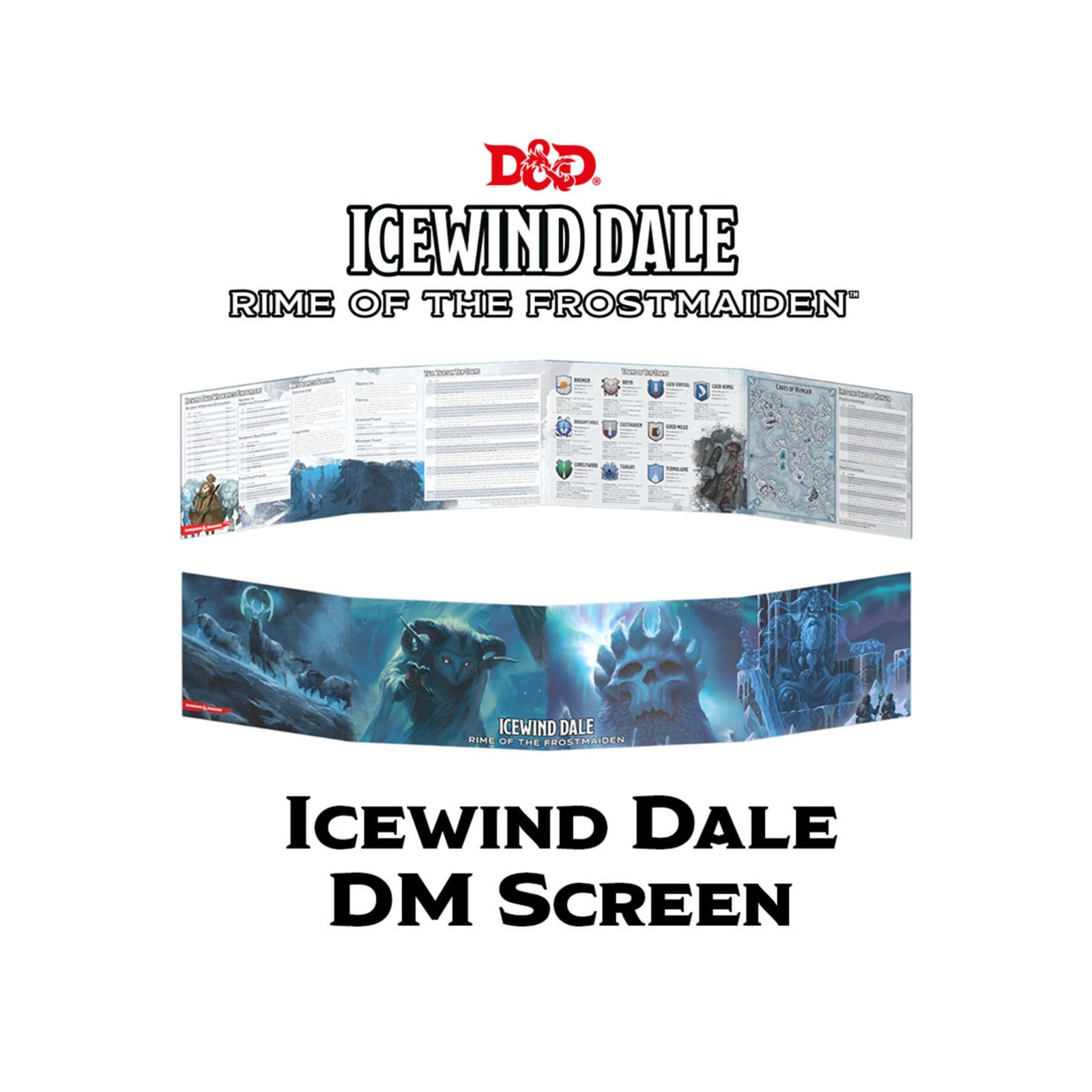 Icewind Dale Rime of the Frostmaiden DM Screen