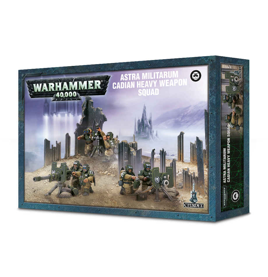 box packaging for Cadian heavy weapons squad