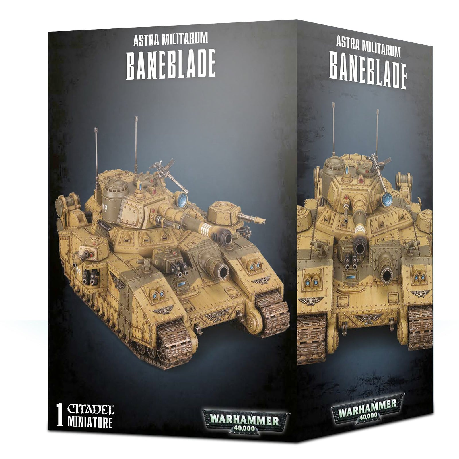 box packaging for Astra militarum Baneblade