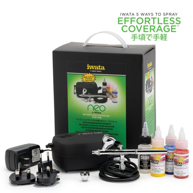 Iwata Gravity Feed Airbrushing Kit with Neo CN