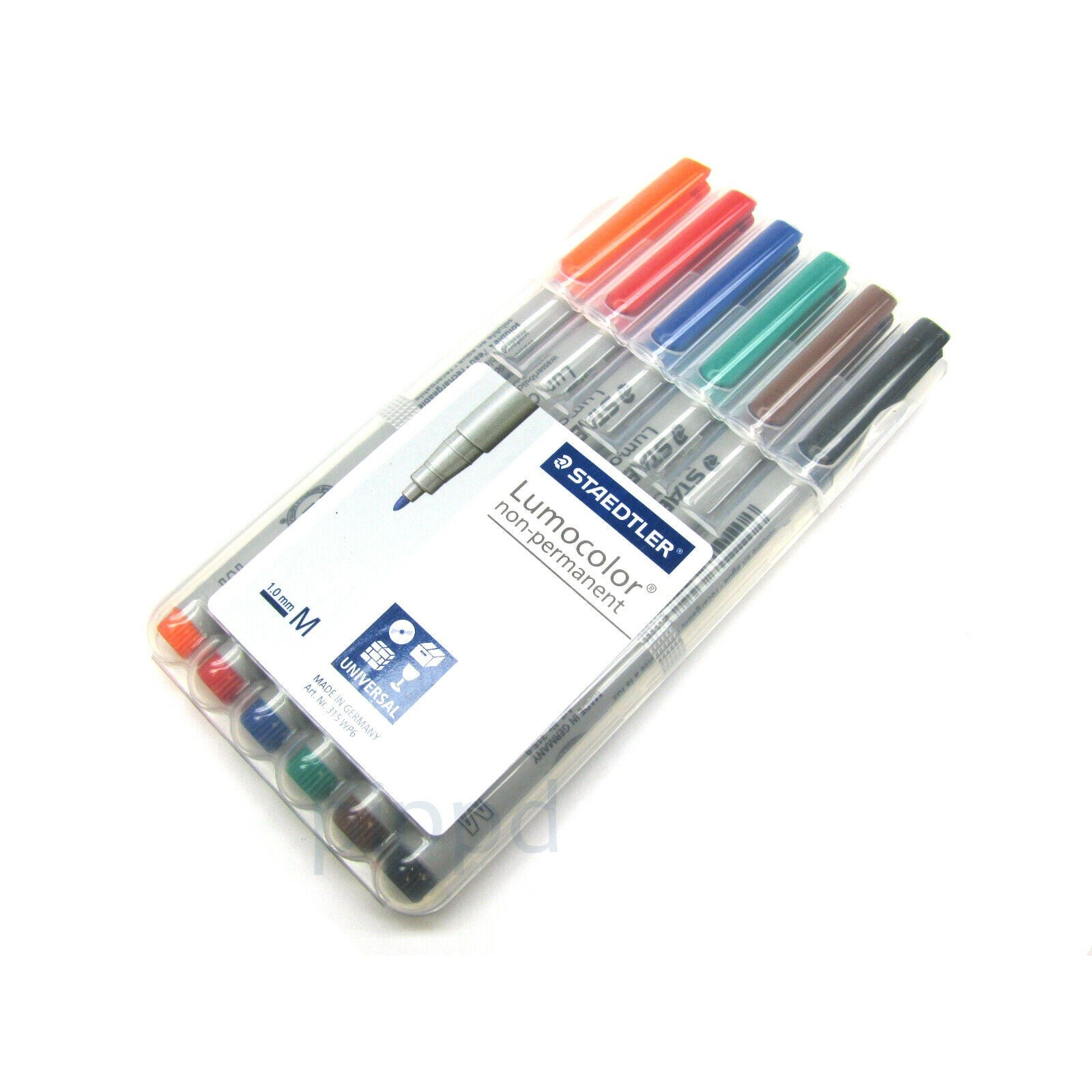 Staedtler Lumocolor Non-Permanent Markers 6-pack