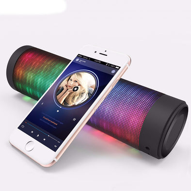 iPhone and Android Controlled Bass Boosted LED Portable Rave Speaker