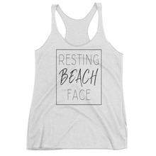 RESTING BEACH FACE TANK TOP (WHITE)