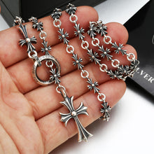 CH triple crosses necklace