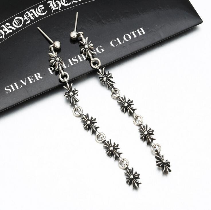 CH Long cross earring