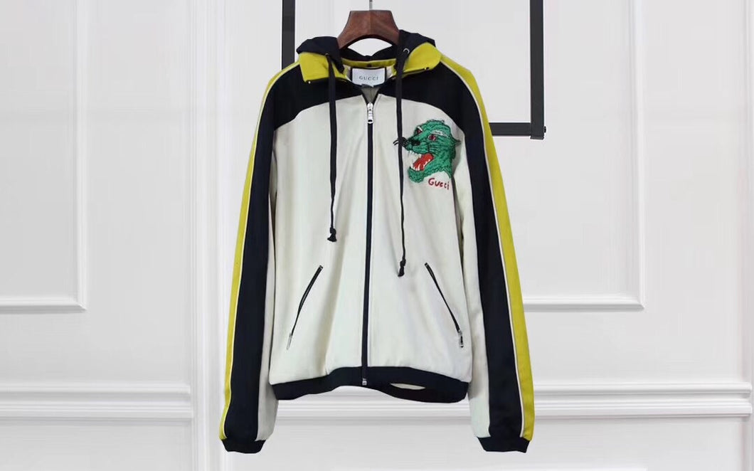 GUC green tiger zip jacket