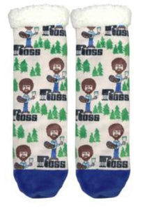 Bob Ross Fuzzy Socks - Happy Trees