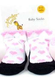 Slippers With Pink Hearts ( 12 - 24 Months )