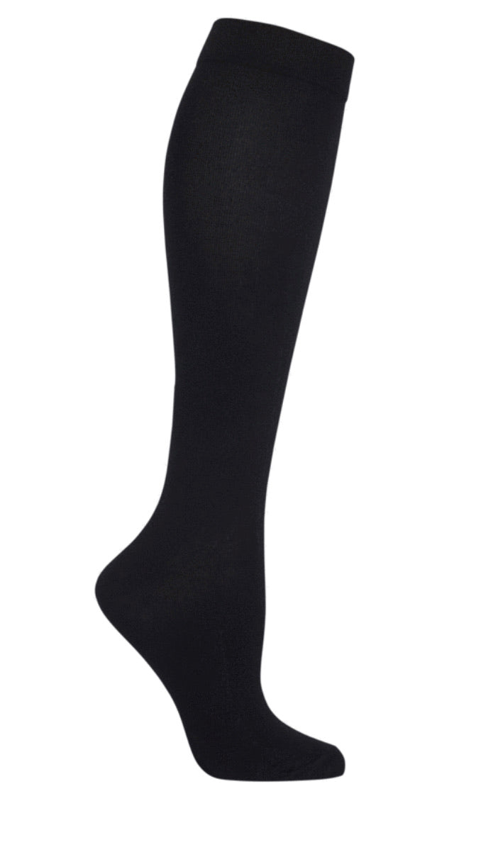 Black Silk Blend Knee High