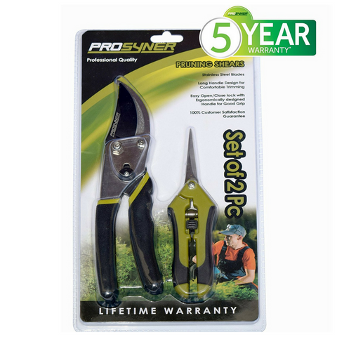 Stainless Steel Hand Pruner With Sharp Blades (Set of 2 Pc)