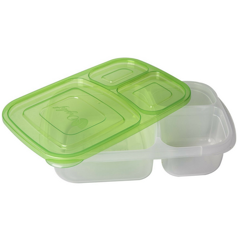 Compartment Reusable Plastic Bento Lunch Box Set of 5