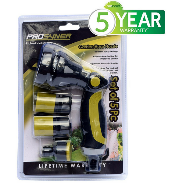 Garden Hose Hand Sprayer Nozzle (Set of 5 Pc)