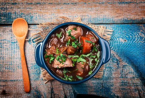 Low FODMAP Slow Cooker Beef, Carrot, and Tomato Stew
