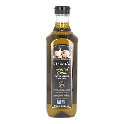 Colavita Roasted Garlic Extra Virgin Olive Oil, Low FODMAP, 32 Fl Oz (Pack of 1)
