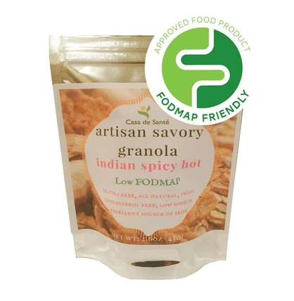 Low FODMAP Certified Artisan Gluten & Oat Free Granola (Indian Spicy Hot)
