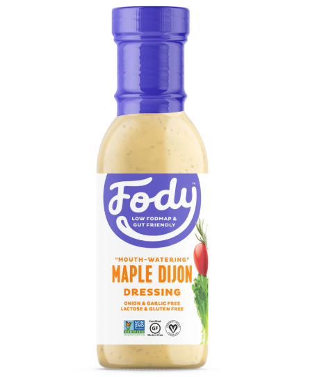 Low FODMAP Maple Dijon Salad Dressing Onion, Garlic, Lactose & Gluten Free