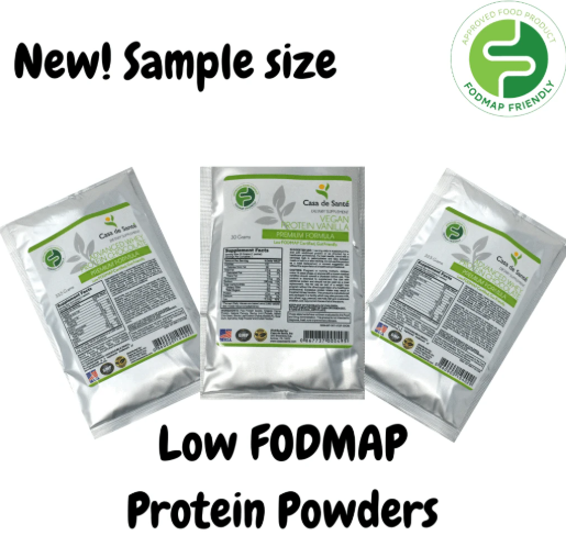 Low FODMAP Protein Powder Sample 3 Pack (Vegan Vanilla, Whey Vanilla & Whey Chocolate), Gluten Free, Soy Free, Sugar Free, Grain Free, Low Carb, All Natural