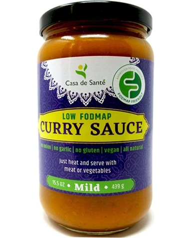 Low FODMAP Certified Curry Sauce - No Onion No Garlic, Gluten & Lactose-free, Low Sodium & Fat, Low Carb, Whole30, Paleo, Keto, Gut Friendly, Mild