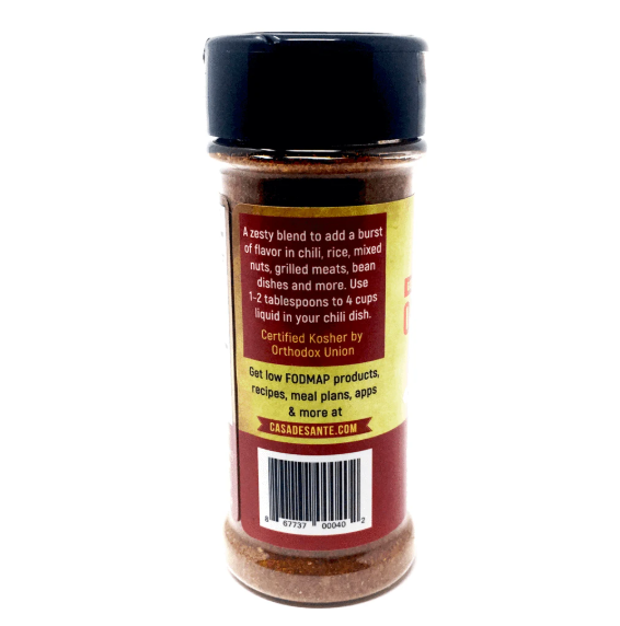 Organic Low FODMAP Certified Spice Mix (Mexican/Taco Seasoning Mix) - No Onion No Garlic, Gluten Free, No Sodium, No Carb, Keto, Paleo, Kosher