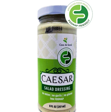 Low FODMAP Certified Caesar Salad Dressing Gluten Free, Lactose Free, Soy Free, No Onion No Garlic, No Carb, Keto