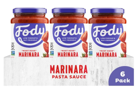 Low FODMAP Marinara Pasta Sauce 6-Pack Onion, Garlic & Gluten Free
