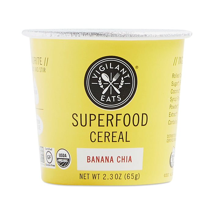 Vigilant Eats Banana Chia Superfood Hot Cereal- 2.3oz