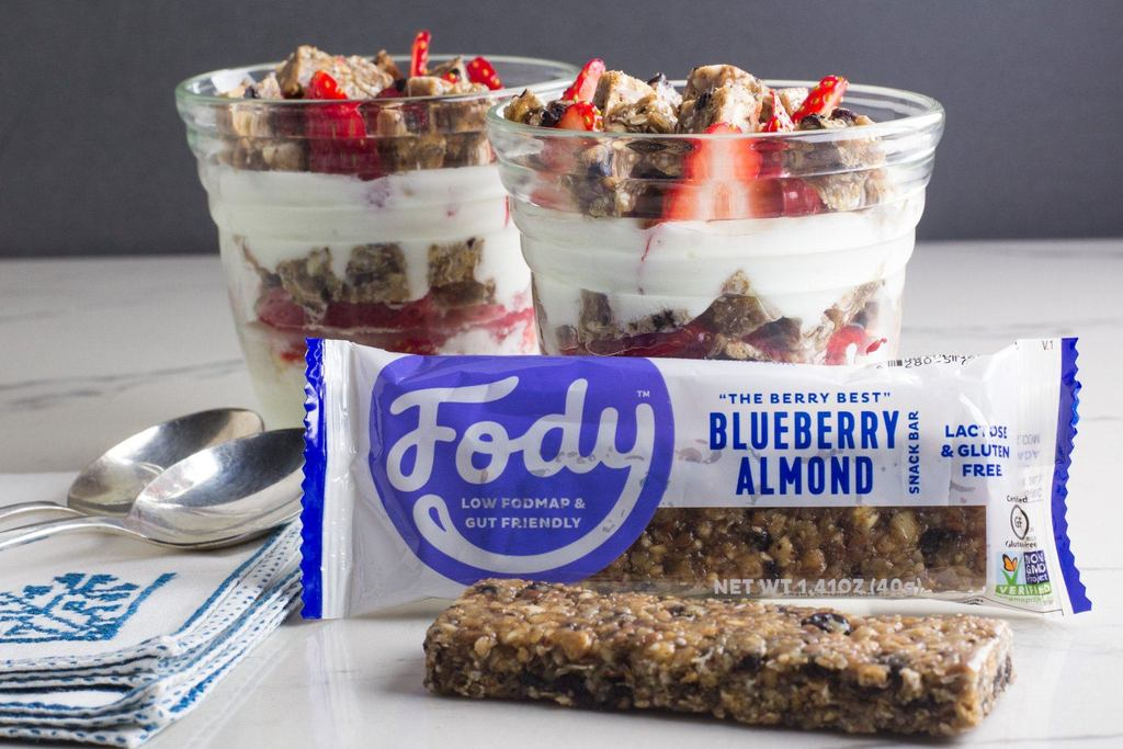 Low FODMAP Blueberry Almond Snack Bars (Box of 12) Lactose & Gluten Free